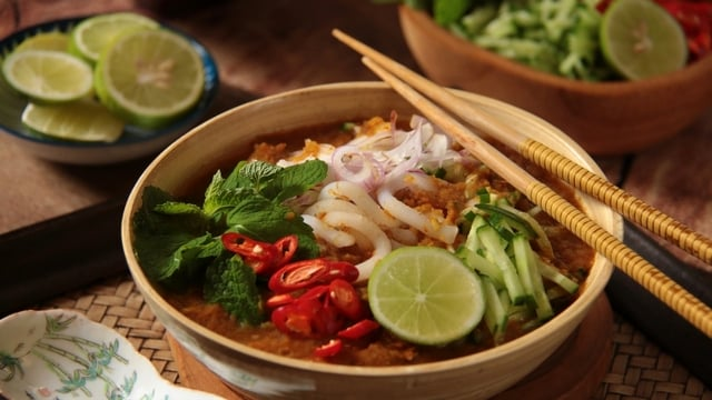 Asam laksa - tasty soup in malaysia