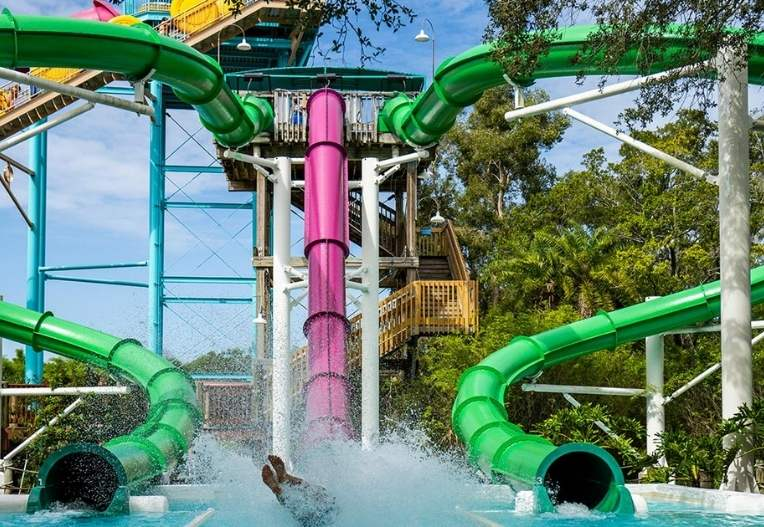 30-acre water park located just across from Busch Gardens
